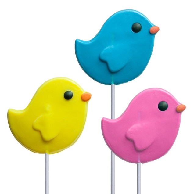 Spring Bird Lollipops