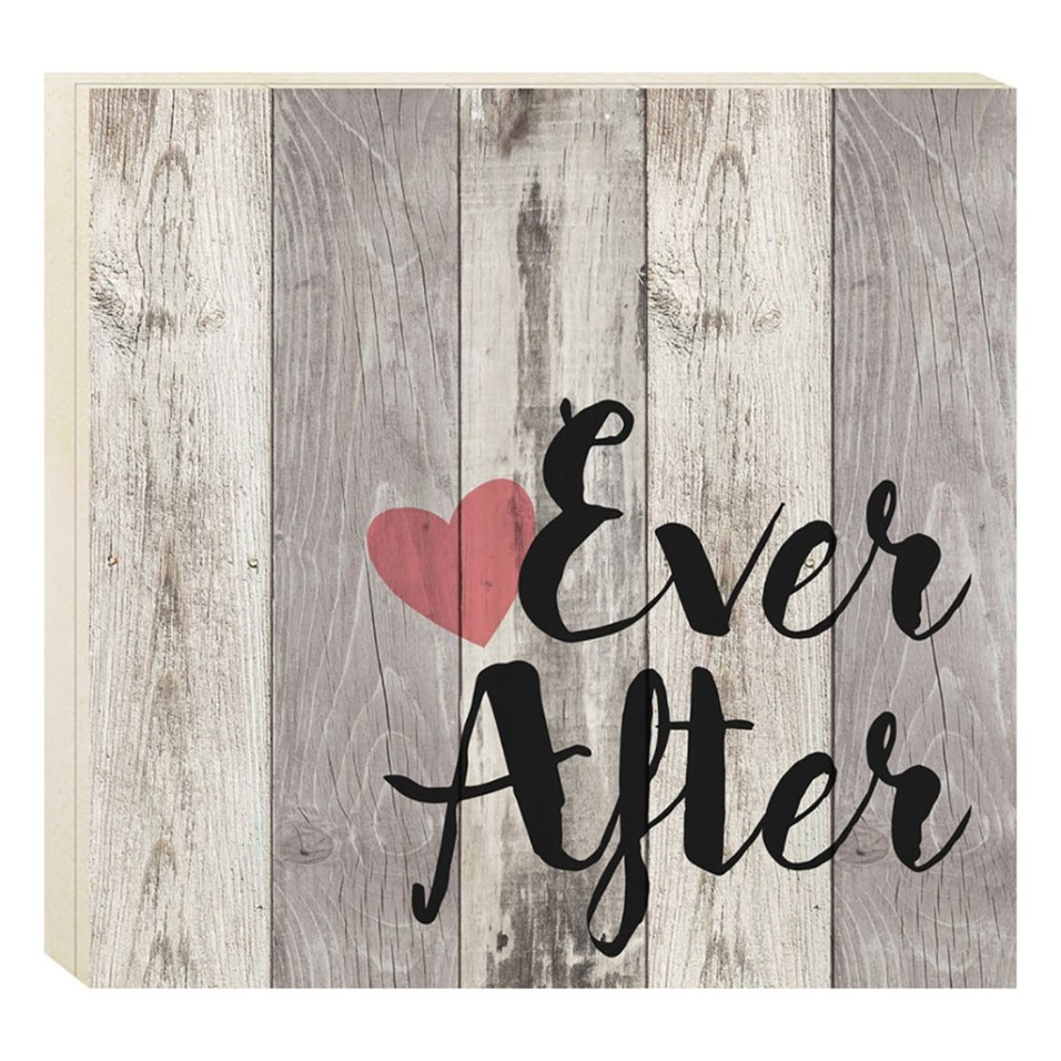 """""""Ever After"""" Barn House Box Sign"""