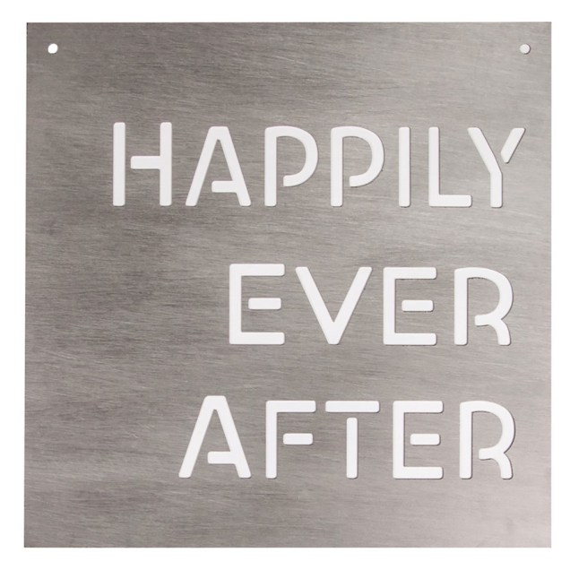 """""""Happily Ever After"""" Silhouette Wall Sign"""