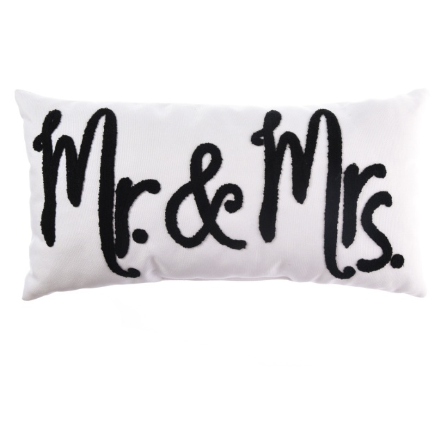 """Mr. and Mrs."" Decorative Pillow"
