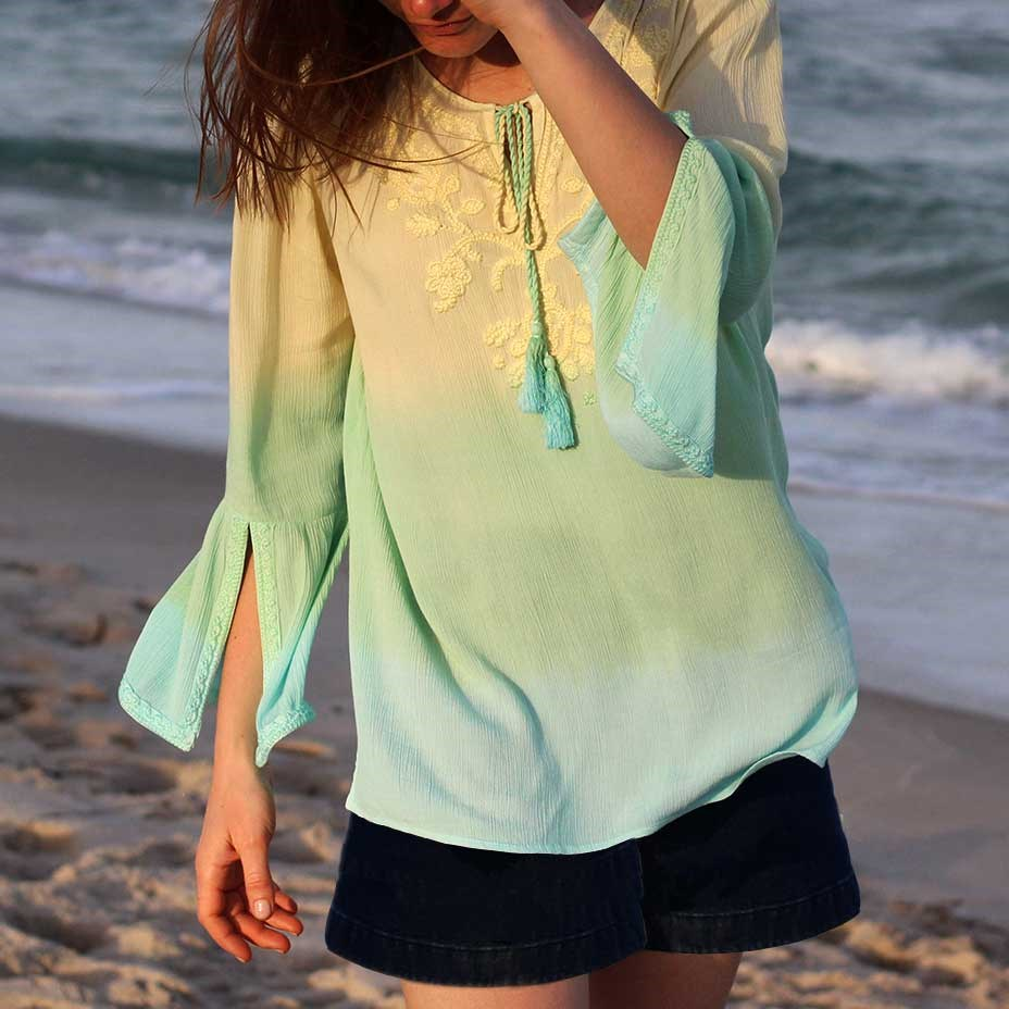 Ombre Embroidered Tunic