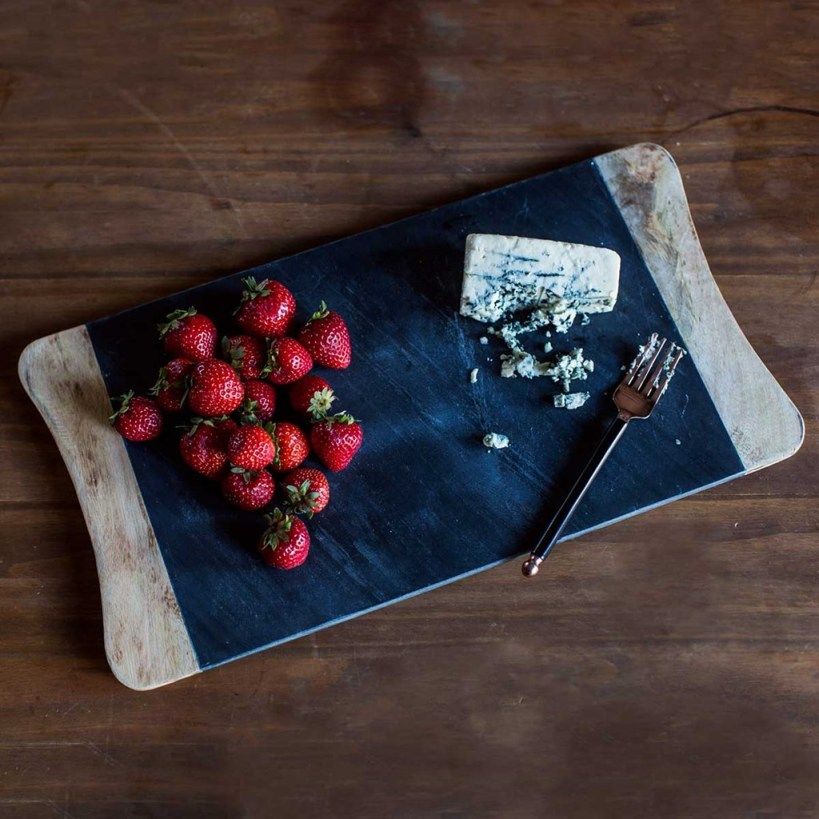 Slate and Mango Wood Cheese Board
