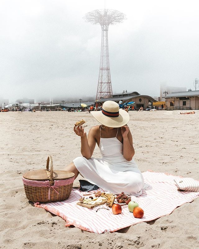 Picnic Basket on Beach