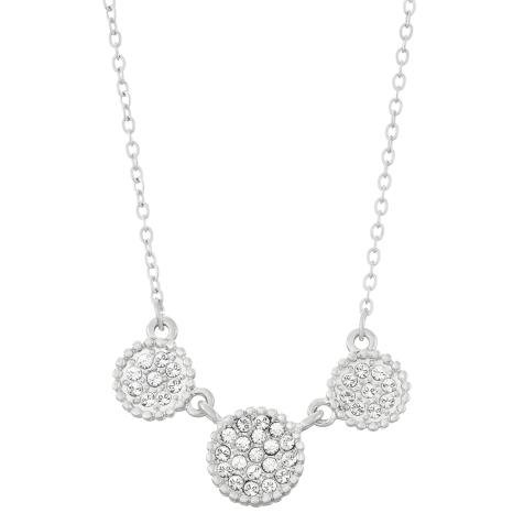 Swarovski Crystal Circle Necklace - Rhodium