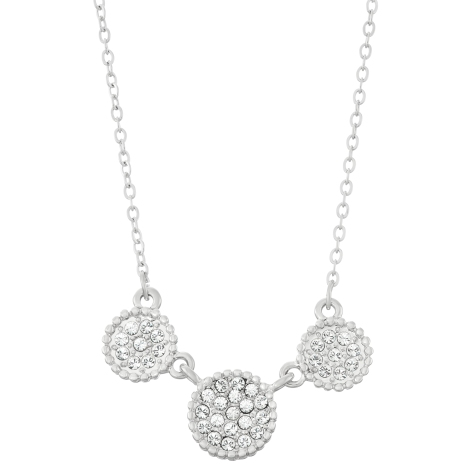 Swarovski Crystal Circle Necklace - Rhodium