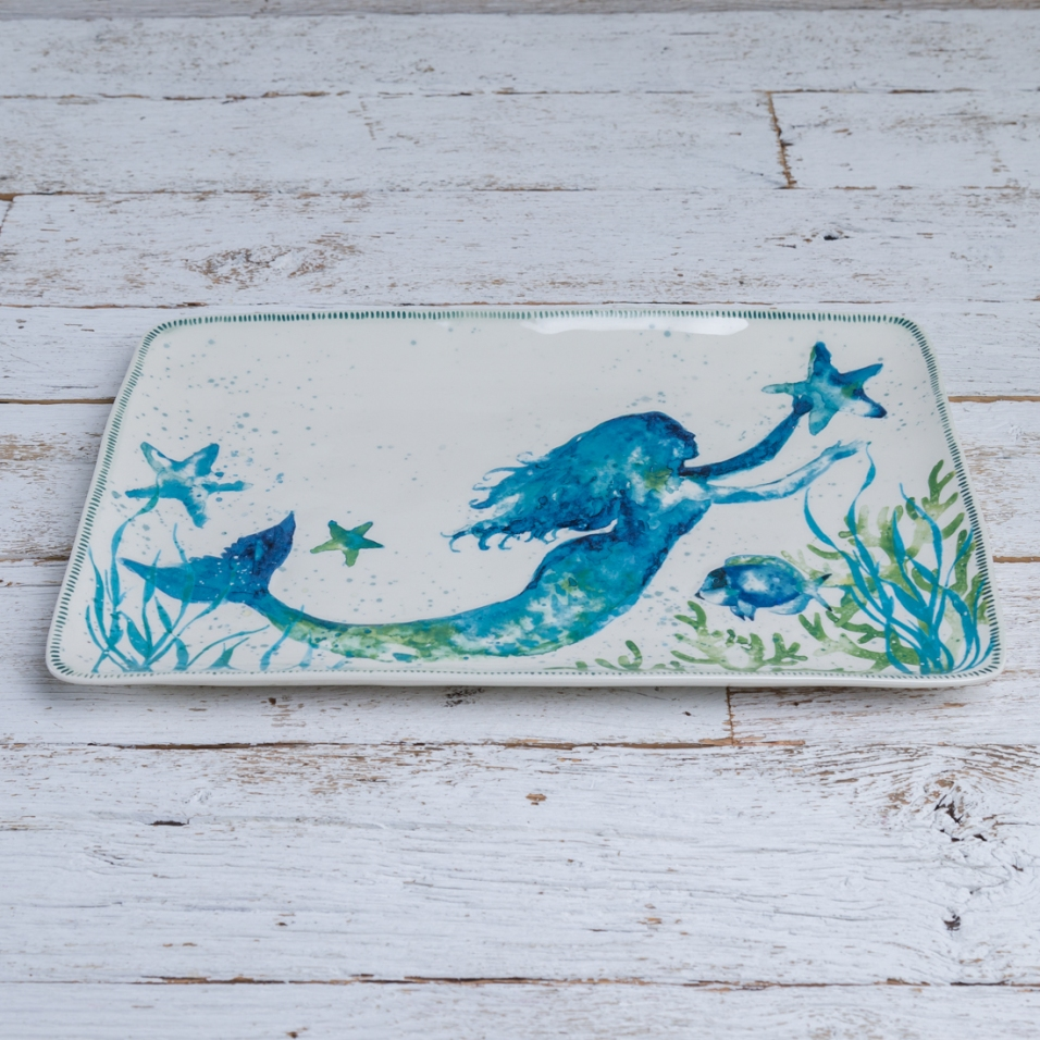 Stoneware Mermaid Platter